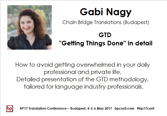 BP17 Translation Conference Gabi Nagy GTD session card