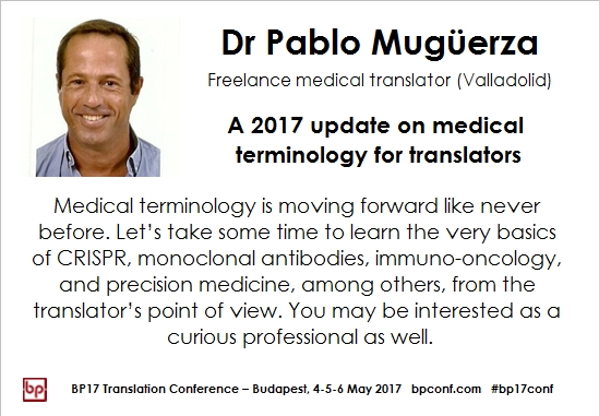 BP17 Translation Conference Pablo Mugüerza medical vocabulary session card