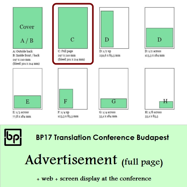 BP17 Translation Conference Budapest - Full page ad