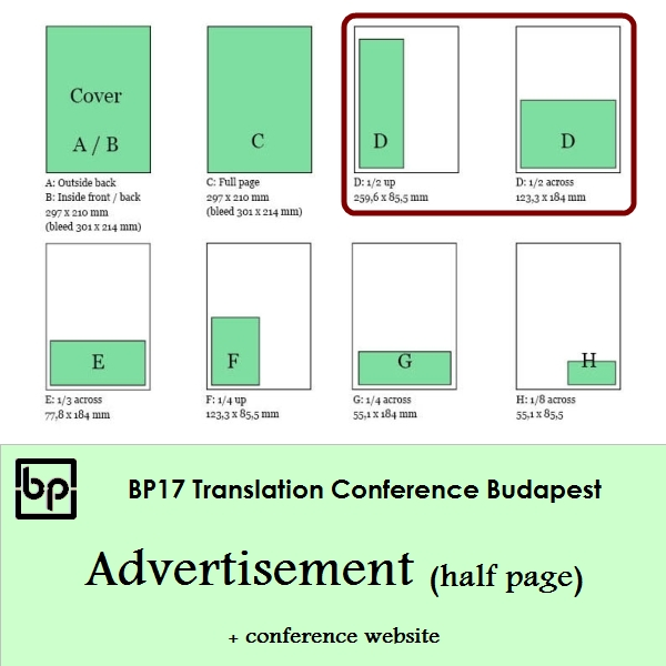 BP17 Translation Conference - Half page ad