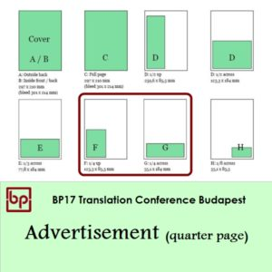 BP17 Translation Conference - Quarter page ad