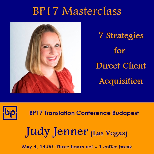 BP17 Translation Conference - Judy Jenner masterclass