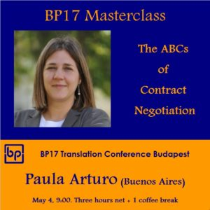 BP17 Translation Conference - Paula Arturo masterclass - Translation Contract