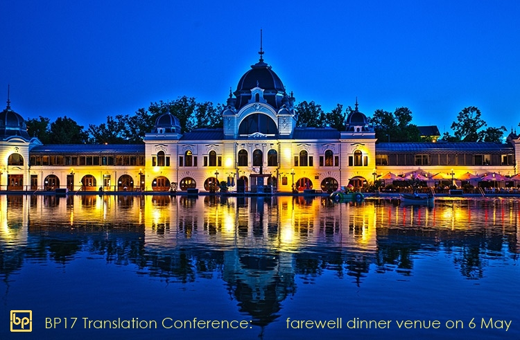 BP17 Translation Conference farewell dinner venue May 6