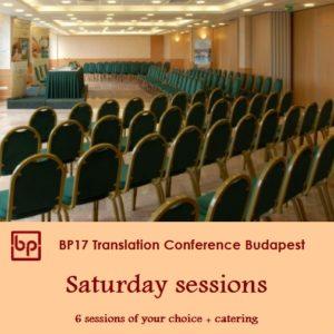 BP17 Translation Conference - Saturday 6 May
