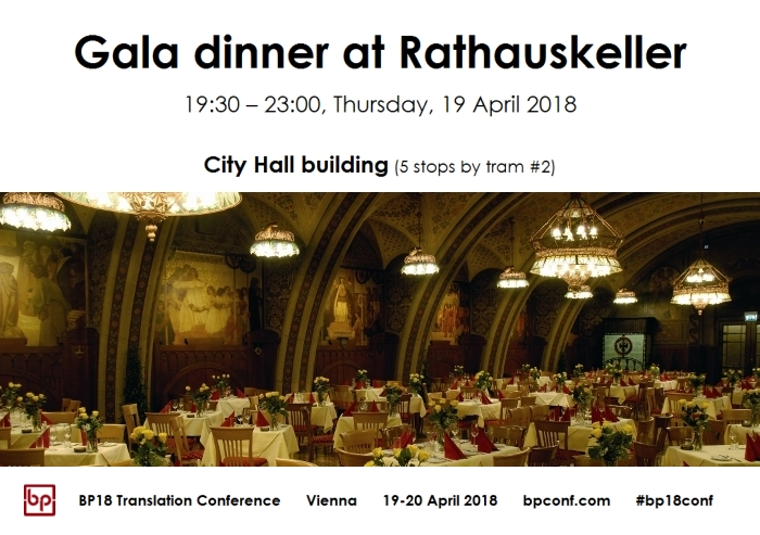 BP18 Translation Conference Gala dinner Rathauskeller
