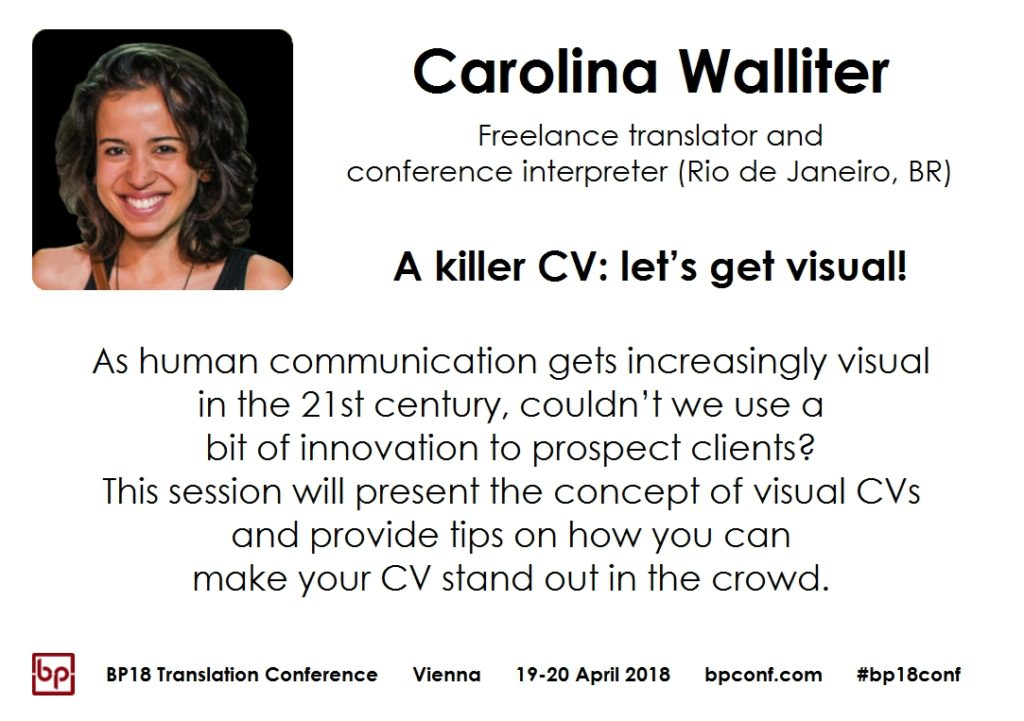 BP18 Translation Conference Carolina Walliter: A killer CV: let's get visual