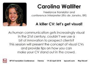 BP18 Translation Conference Carolina Walliter: A killer CV: let's get visual