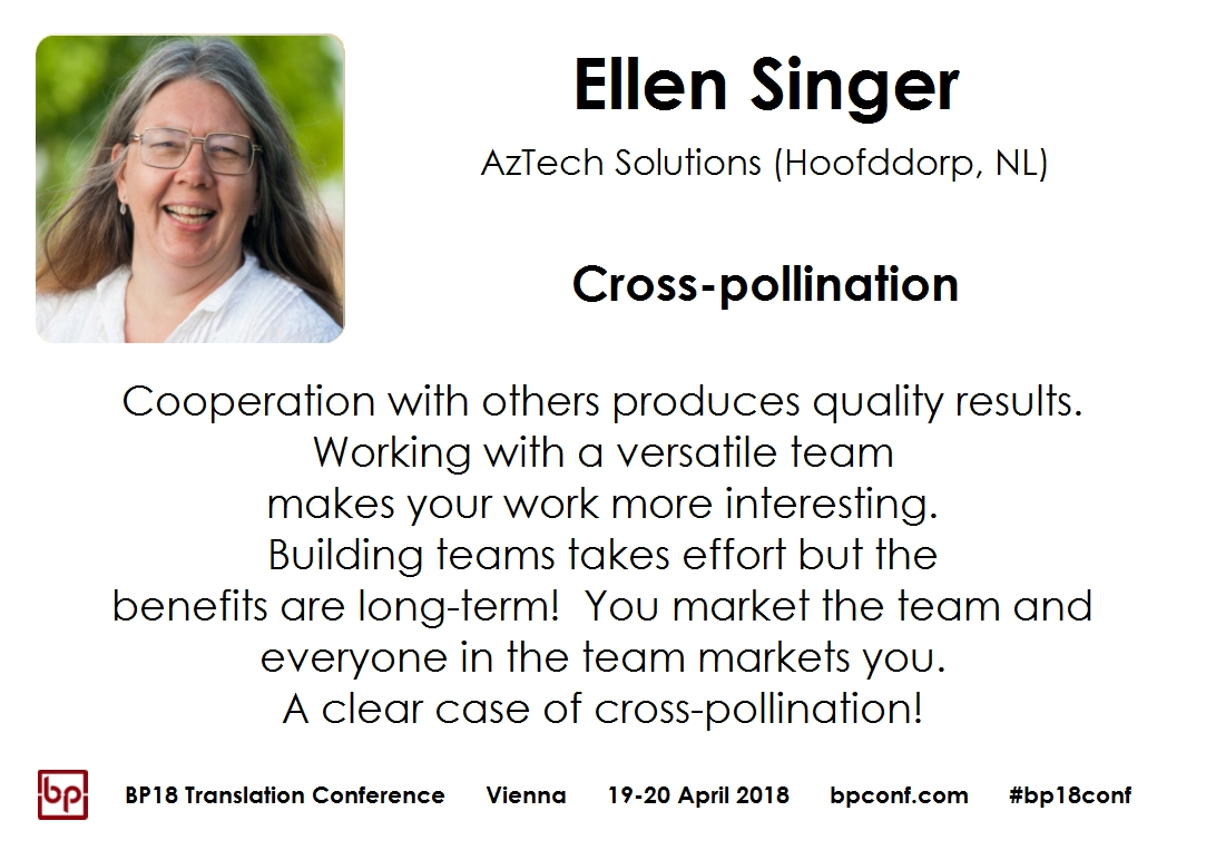 BP18 Translation Conference Ellen Singer Cross-pollination