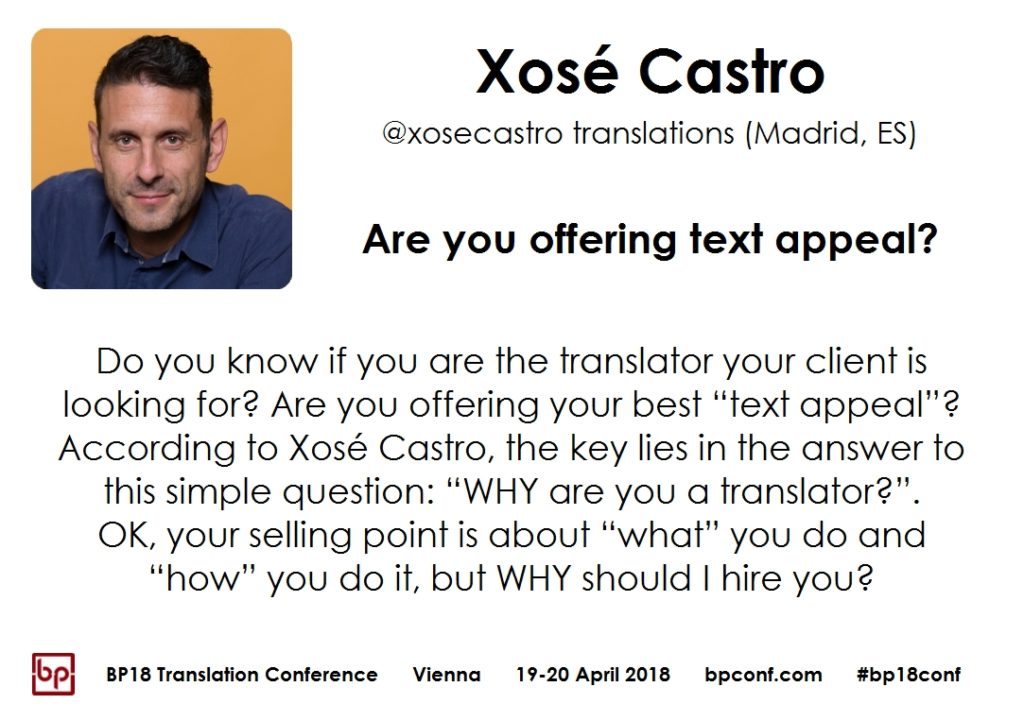 BP18 Translation Conference Xosé Castro are you offering text appeal
