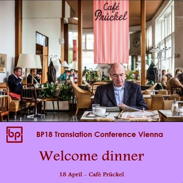 BP18 Translation Conference - Welcome dinner - 18 April