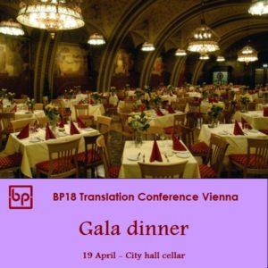 BP18 Translation Conference - Gala dinner - 19 April