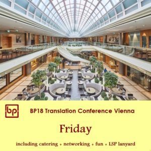 BP18 Translation Conference - Friday - LSP ticket