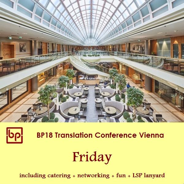 BP18 Translation Conference - Friday - LSP ticket