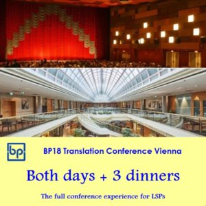 BP18 Translation Conference Full package LSP ticket