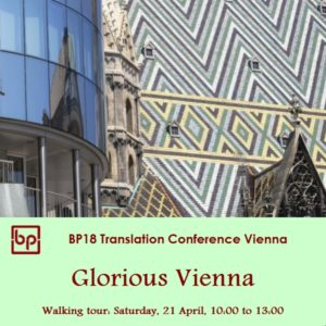 BP18 Walking tour Glorious Vienna 21 April