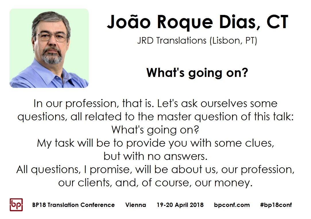 BP18 Translation Conference Joao Roque Dias