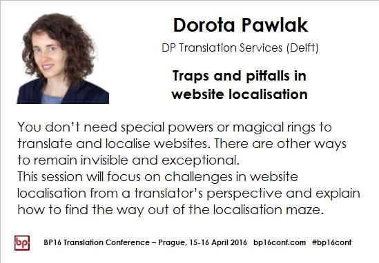 Dotota Pawlak BP16 website localisation