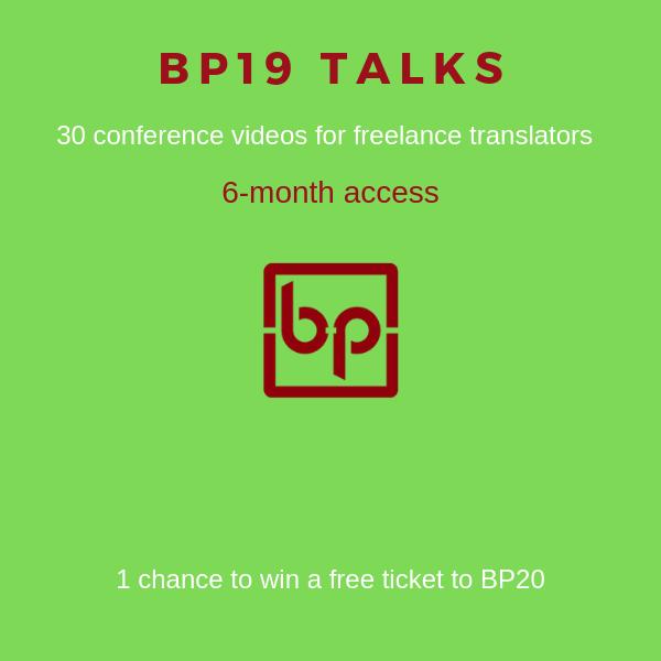 BP19 talks video library