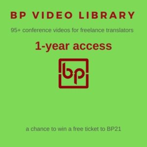 BP20 Translation Conference BP Video Library 1 year access