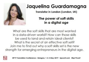 BP19 Translation Conference - Jaquelina Guardamagna - The power of soft skills in a digital age