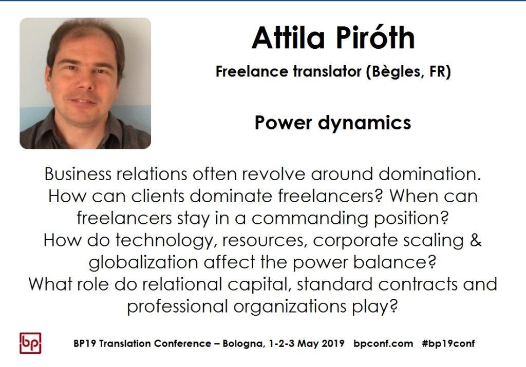 BP19 Translation Conference - Attila Piróth - Power dynamics