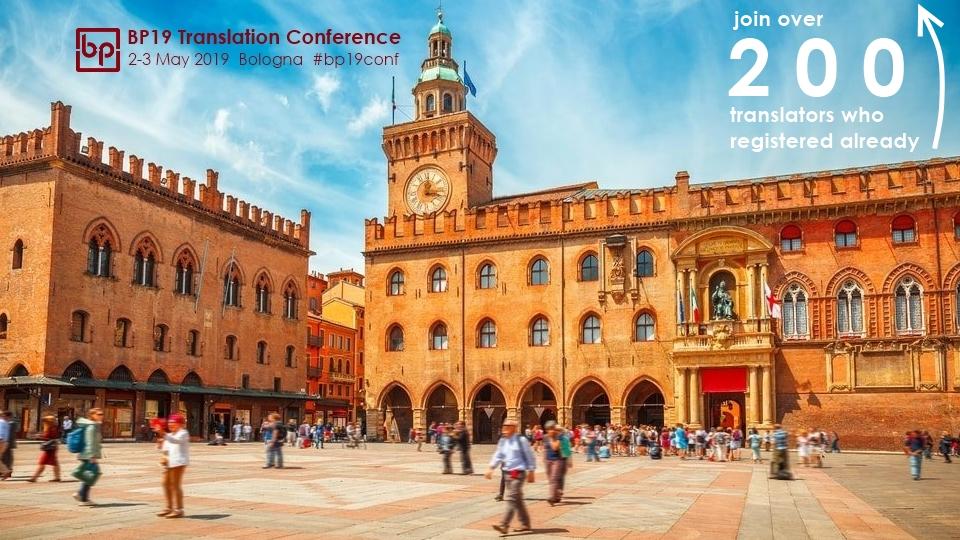 BP19 Translation Conference Bologna 200 registered already