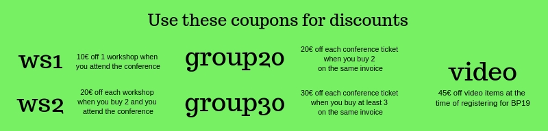 BP19 Translation Conference discount coupons