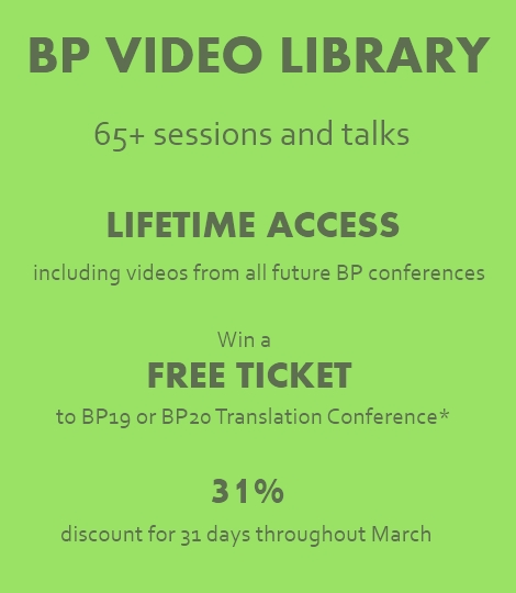 BP19 Translation Conference - BP Video Library ad