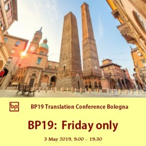 BP19 Translation Conference Bologna 1-day ticket Friday 3 May 2019