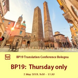 BP19 Translation Conference 1-day ticket Thursday 2 May