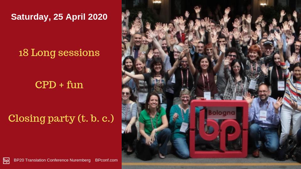 BP20 Translation Conference Nuremberg 25 April