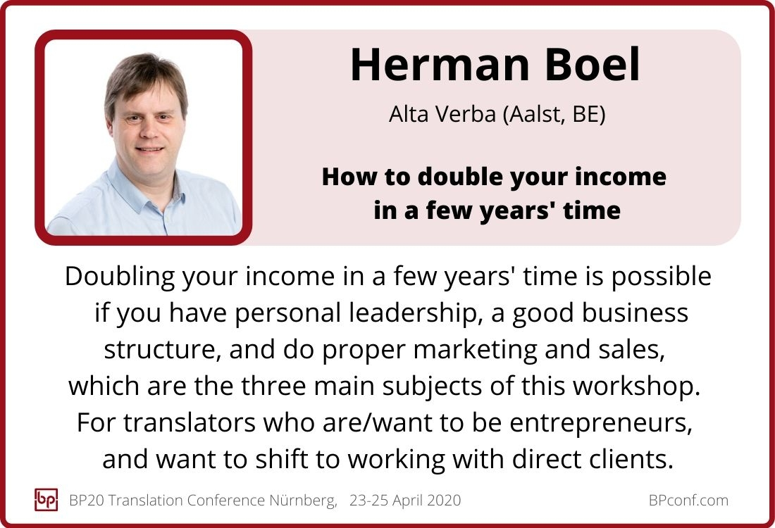 Herman Boel_BP20_How to double your income as a translator in a few years time