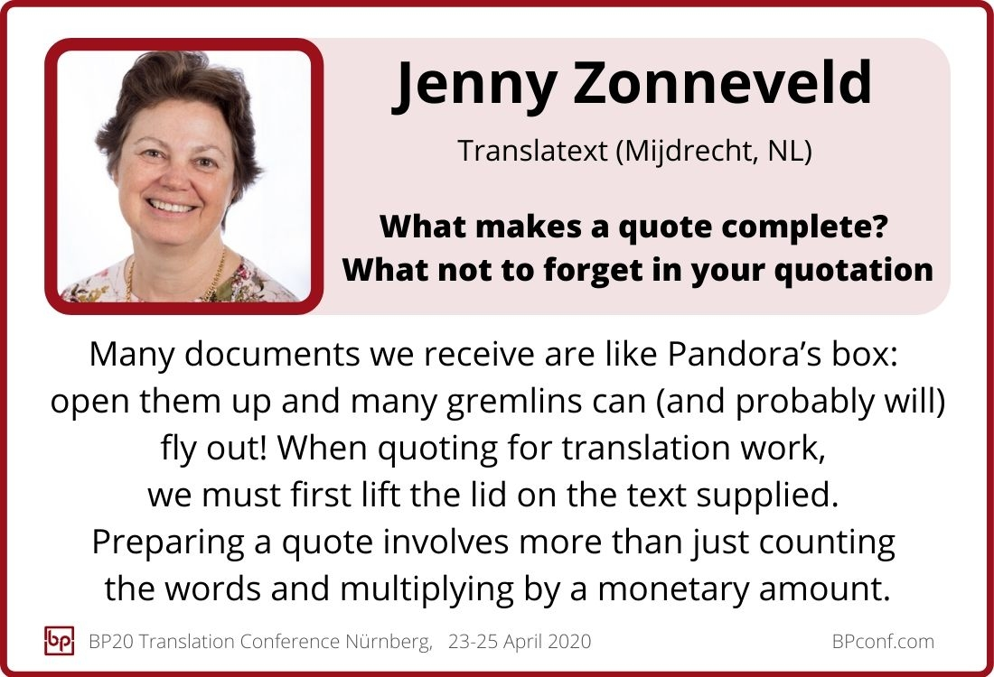 Jenny Zonneveld_BP20_Translation Conference_What makes a quote complete