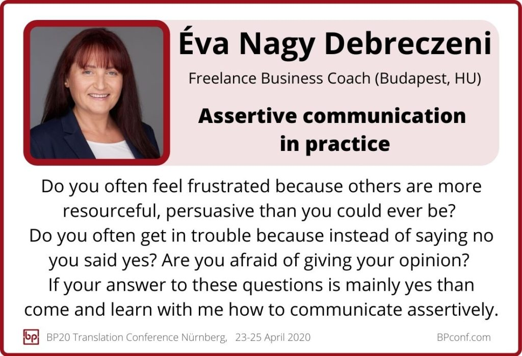 Éva Nagy Debreczeni_BP20_Assertive communication in practice