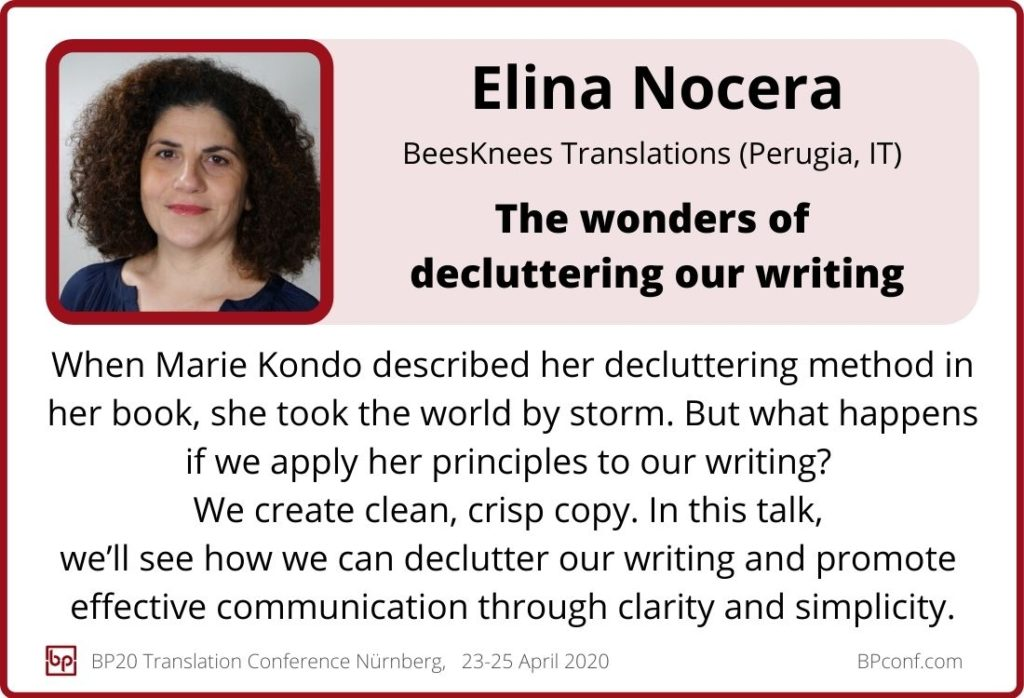 Elina Nocera_BP20_The wonders of decluttering our writing