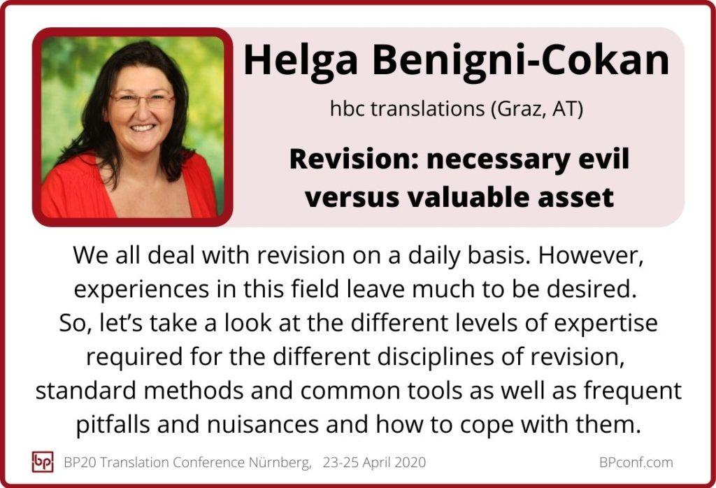 Helga Benigni Cokan_BP20_Revision - necessary evil or valuable asset