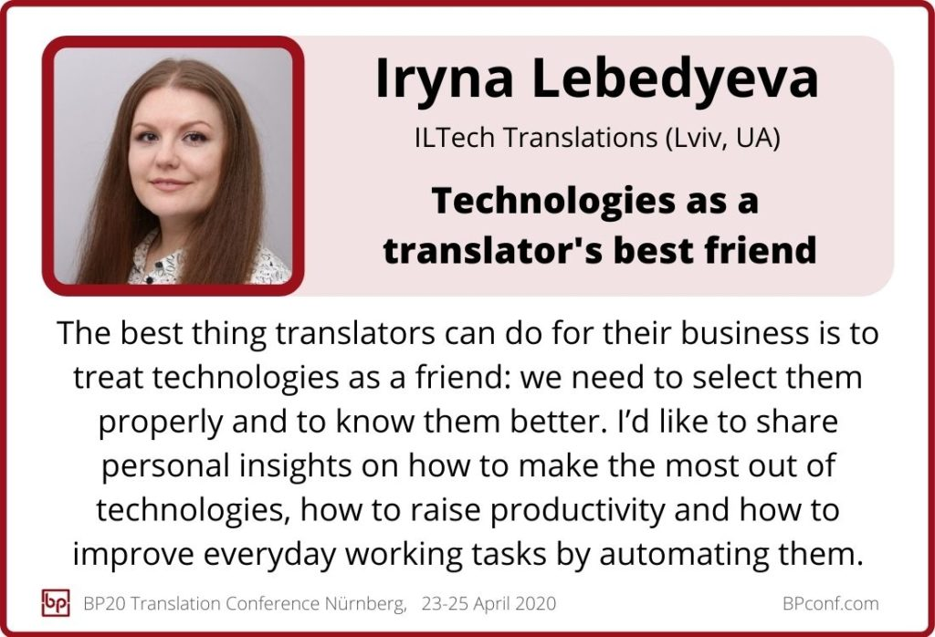Iryna Lebedyeva_BP20_Technologies as translators best friends