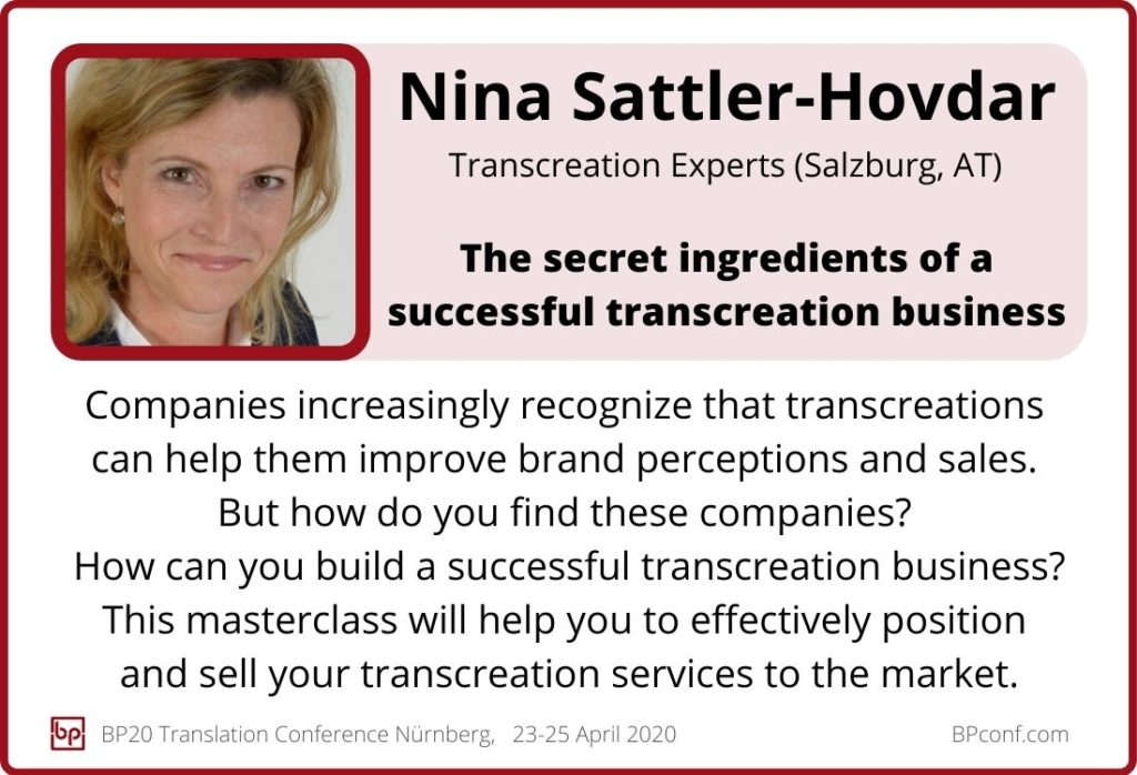 Nina Sattler-Hovdar_BP20_The secret ingredients of a successful transcreation business