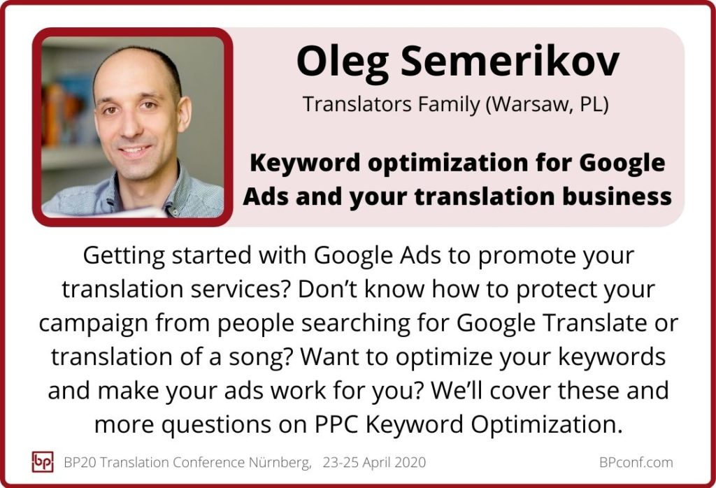 Oleg Semerikov_BP20_Keyword optimization for Google Ads and your translation business