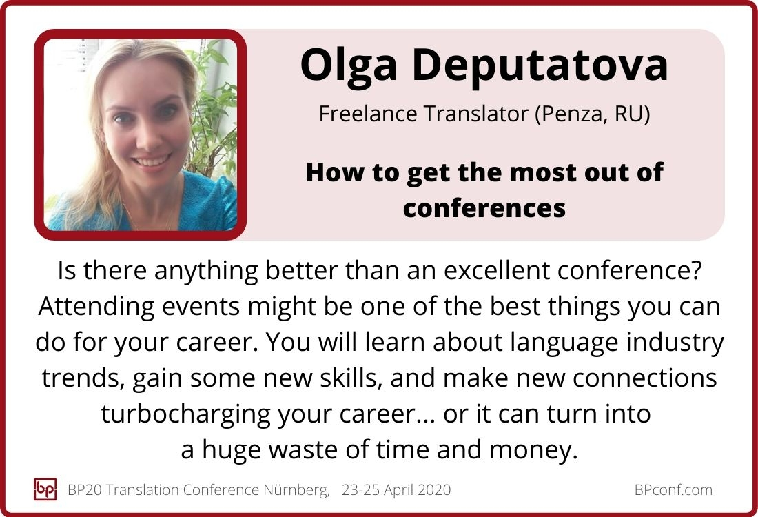 Olga Deputatova_BP20_How to make the most out of conferences