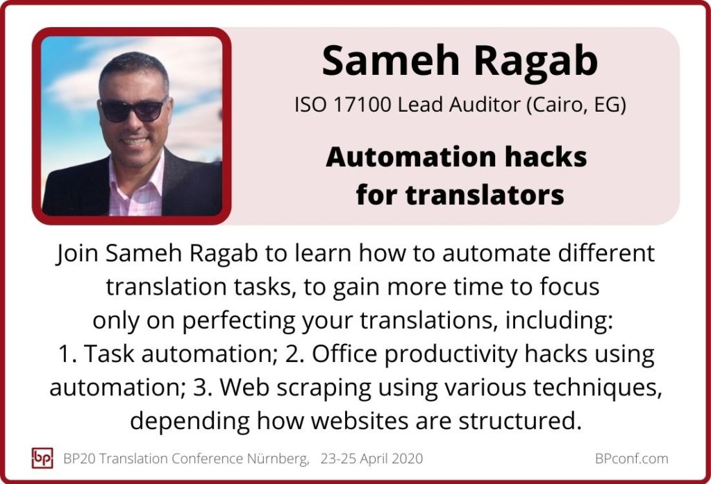 Sameh Ragab_BP20_Automation hacks for translators