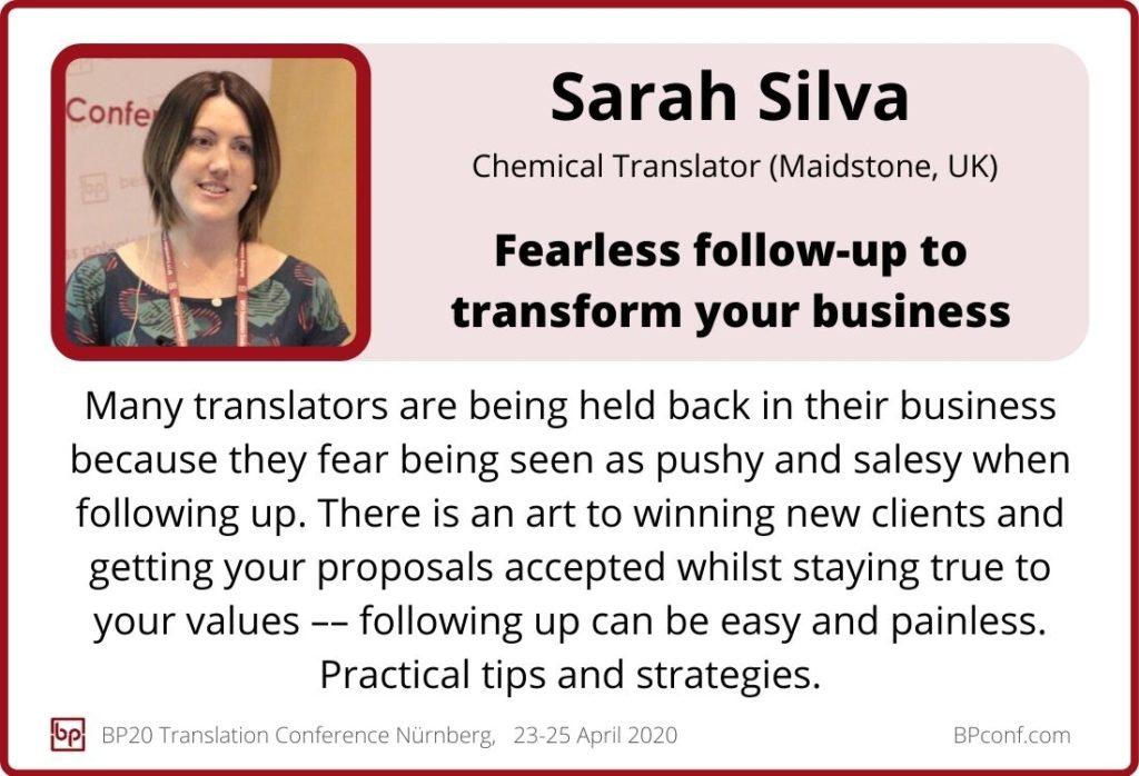Sarah Silva_BP20_Fearless follow-up to transform your business