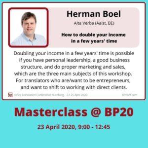 BP20 Masterclass Herman Boel