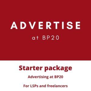 BP20 advertising starter pack
