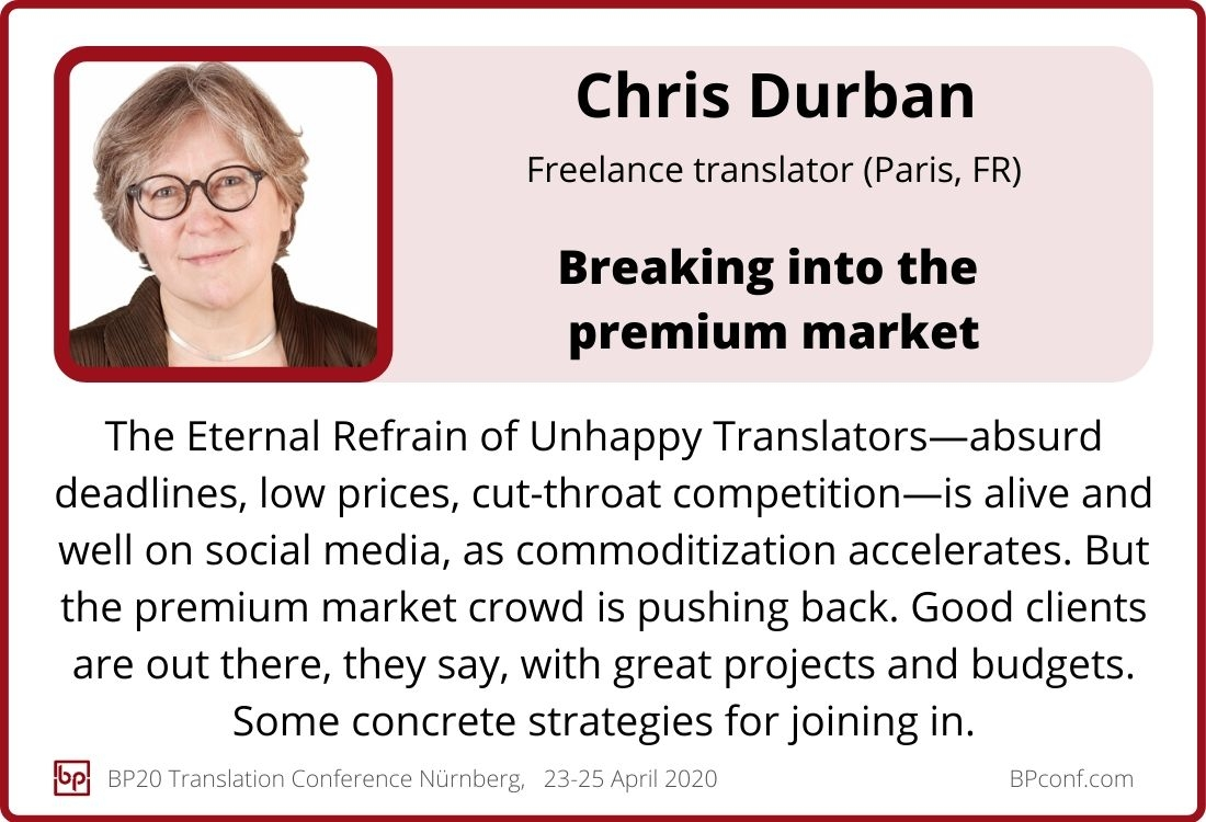 Chris Durban_BP20 Translation Conference_Breaking into the premium market