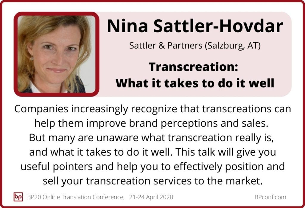 Nina Sattler-Hovdar_BP20_Transcreation What it takes to do it well