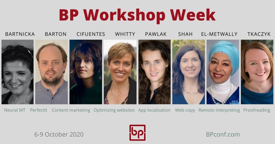 BP Translation Conference Workshop Week 6-9 October 2020