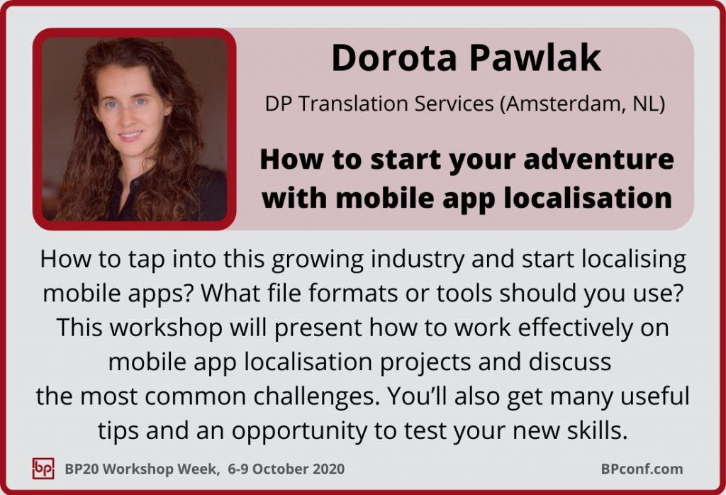 BP20_Workshop Week_Session Card_Dorota Pawlak_Localisation of mobile apps