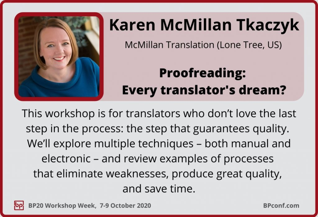 BP20_Workshop Week_Session Card_Karen McMillan Tkaczyk_Proofreading